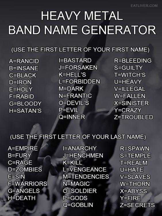 metal band names meme