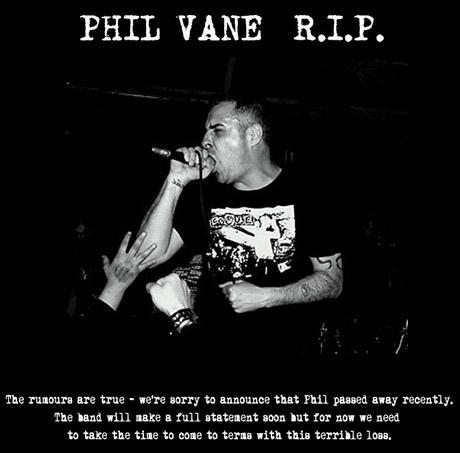 R.I.P. Phil Vane Extreme Noise Terror