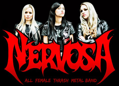 метал тетки Nervosa all female bands
