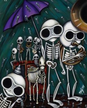 funeral gothic skeleton