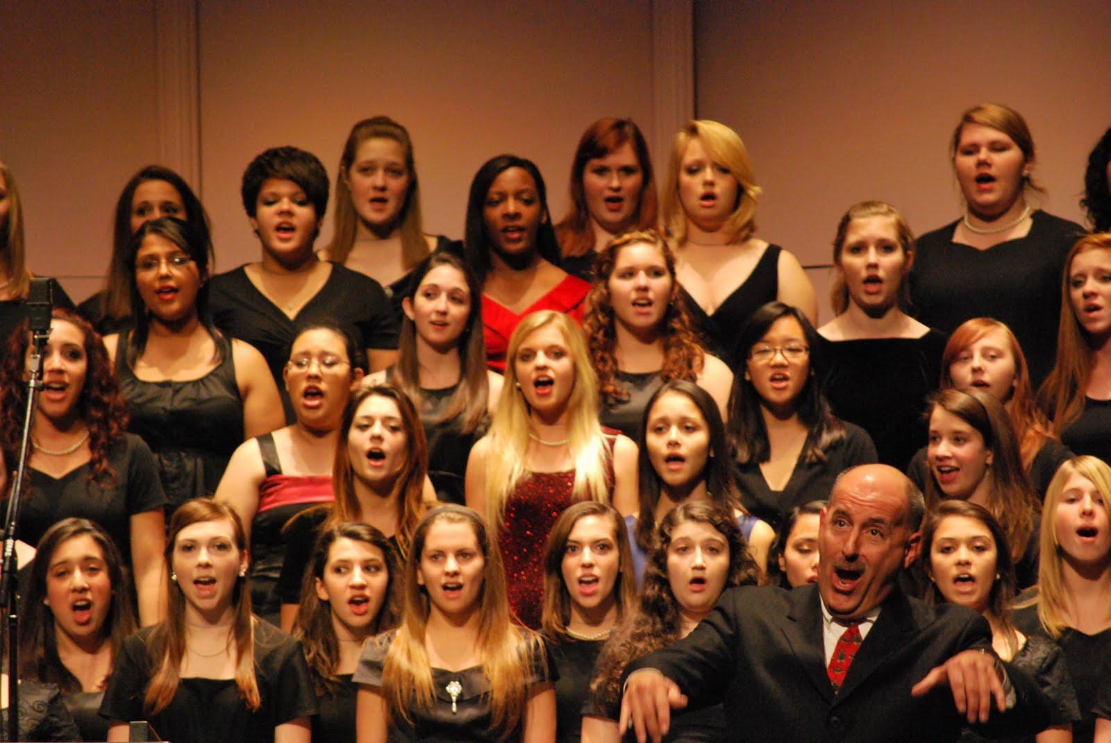 crowd singing