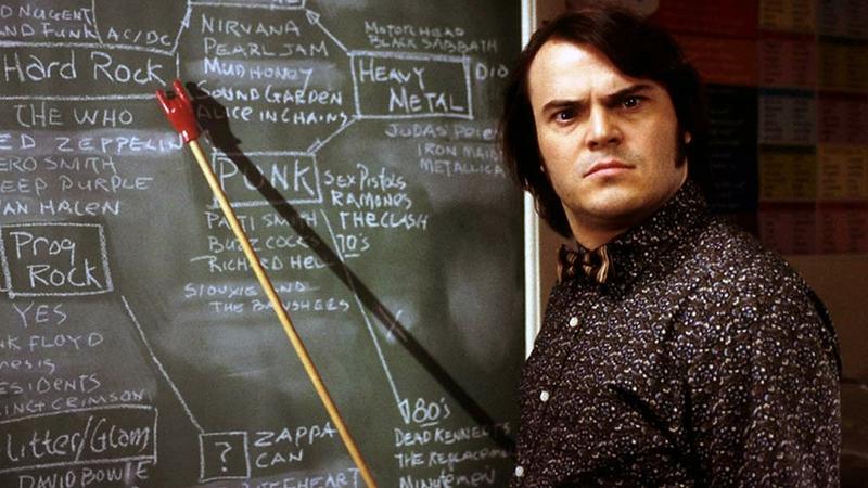 heavy metal teacher jack black school of rock