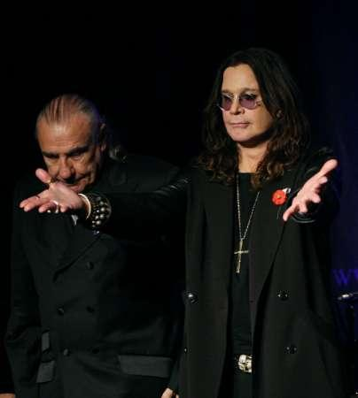 black sabbath singer ozzy osborne with drummer bill ward l