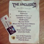 the unguided setlist