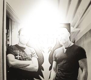 """свет в студии: Atterigner и Tomas Asklund во время записи """"Instinctus Bestialis"""""""