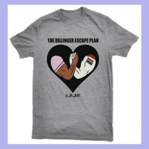 the dillinger escape plan t-shirt