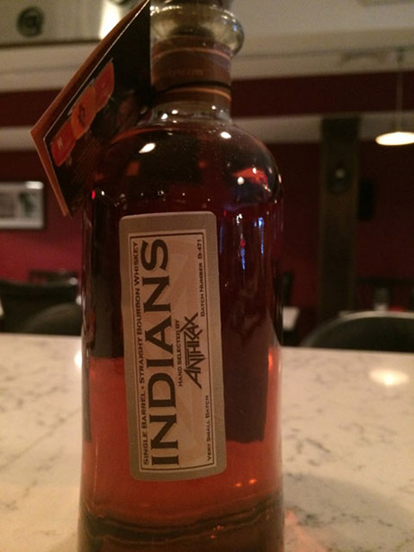 Anthrax Indians bourbon