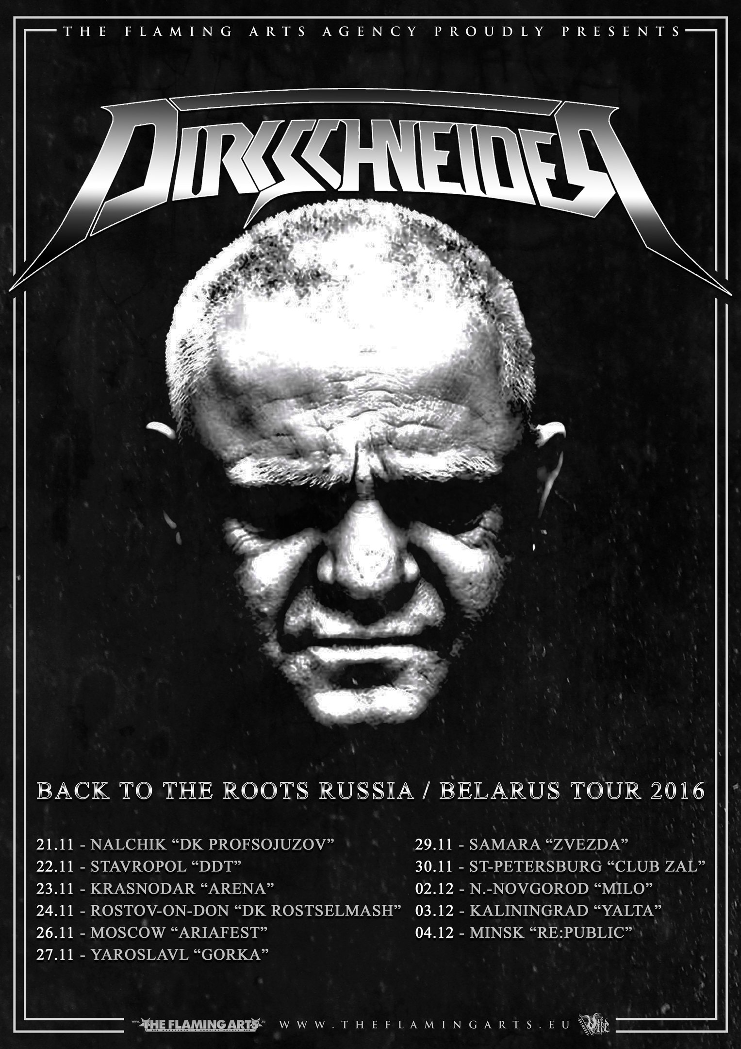 Dirkschneider Back To The Roots Russia Belarus tour 2016