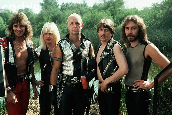 judas priest early photo young metal gods