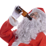 rock n roll santa drunk