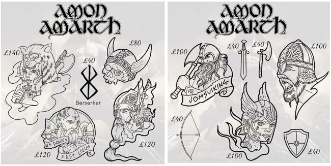 Amon Amarth official tattoo