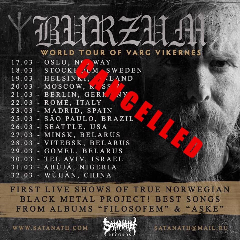 burzom tour cancelled