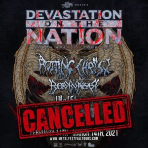 Звоночек: начались отмены крупных весенних метал-концертов