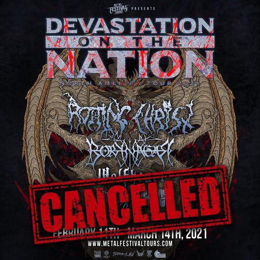 cancel tour