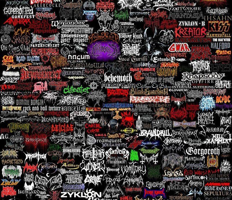 metal bands logos 1