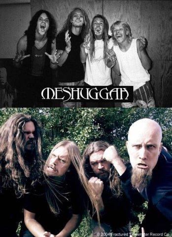 музыканты Meshuggah в молодости